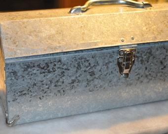 Galvanized Metal Tool Box