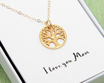 Mothers Day Family Tree Necklace, Tree of Life Necklace, Mothers Necklace, Mothers Jewelry, Mommy Necklace, Grandmother Necklace, Mom Gift