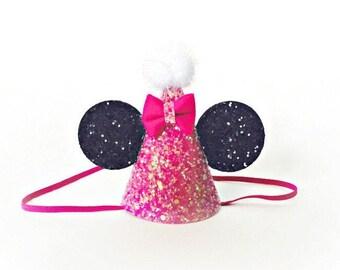 Minnie Mouse Birthday Hat || First Birthday Outfit Girl Minnie Mouse || Disney Birthday Party || Minnie Mouse Birthday Party