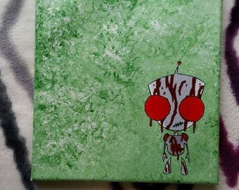 Invader Zim hidden Gir 8x10 painting