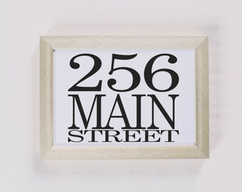 Calligraphy Print - Personalized Address