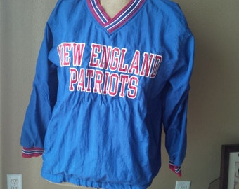 New England Patriots Jacket Pro Line Warm Up Pullover Super Bowl Champions New England Patriots
