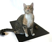 Yoga Mat, Black Yoga Mat, Yoga Mat for Cats, Cat Mat, Yoga Lover Gift