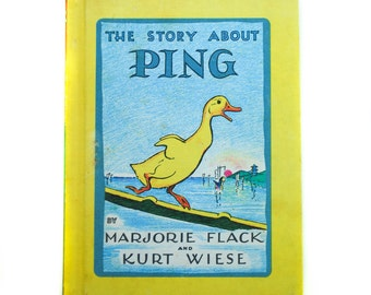 The Story about Ping by Marjorie Flack and Kurt Wiese, 1961, Vintage Children's Book, Children's Library
