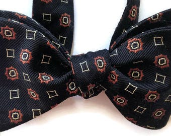 Silk Bow Tie for Men - Wheelhorse - One of-a-Kind, Handtailored, Self-tie - Free Shipping