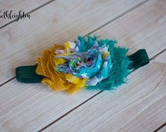 Newborn Shabby Flower Headband