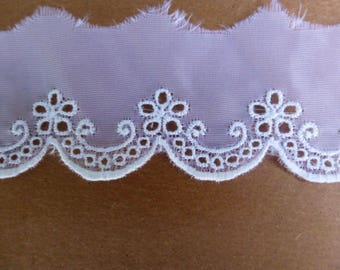 White Sheer Flower Lace