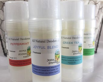 All Natural Deodorant, Aluminum free, Solid Deodorant in Dial Up Tube, Organic