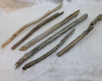 Driftwood Pieces - Bulk Driftwood - Beach Wood - Craft Supplies - 6 Round Shaped Pieces