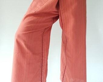 TCZ001 Hand Sewing Inseam design for Thai Fisherman Pants Wide Leg pants, Wrap pants, Unisex pants