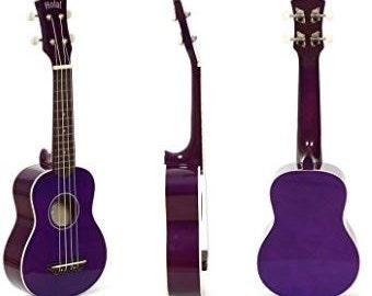 Purple Ukulele Custom Painted, Custom Soprano Ukulele, Decorated Ukulele, one of a kind painted ukulele, Ukulele pyrography,  ukelele