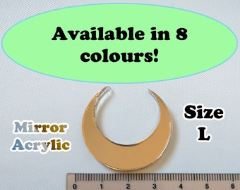 Crescent Moon Laser Cut Mirror Acrylic Cabochons Supplies