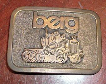 Vintage Brass Belt Buckle