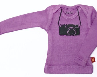 Sasha doll and MSD L/S Tee - Purple Camera