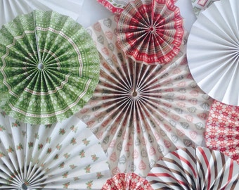 Paper fan pinwheel backdrop hanging decorations christmas nordic