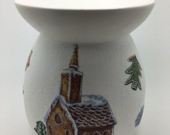 Christmas Decorations, Tart Burner, Wax Burner, Oil Burner, Gift For Her, Housewarming Gift, Gingerbread , Fragrance Burner