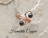 Magnetic Hematite Copper Ring | Copper Ring | Hematite Ring | Magnetic Ring | Arthritis Ring | Magnetic Copper Arthritis Jewelry | Black