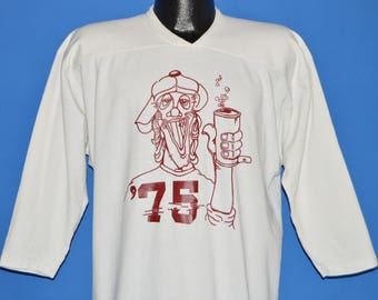 70s Drunk Guy '75 Graduation Jersey t-shirt Extra Large