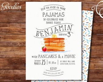 Pancakes and Pajamas Party Invitation