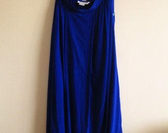 Vintage Blue Silk Skirt