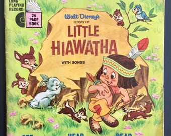 1968 Walt Disney's Story of Little Hiawatha Book & Record Edition- BOOK ONLY