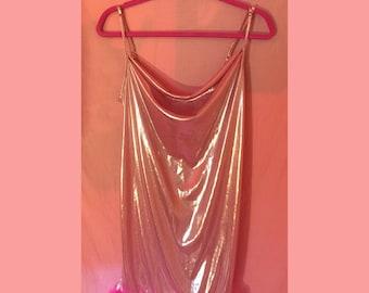 ROMY&MICHELE 90s totally rad slinky lingerie dress top