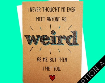 Funny Card | Love Card | Couples Card | Funny Valentines Day Card | Humorous Card | Handmade Card | Weird Card | Anniversary Card | Quirky