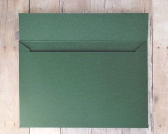 Forest Green Matte Envelopes - 4x6 (A6) - Greeting Cards, DIY Invitation Envelopes, Wedding, Birthday, Shower Invitations - Set of 10