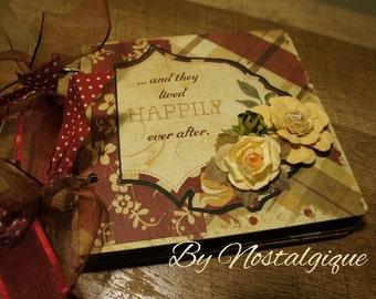Love, Wedding, Anniversary Mini Scrapbook Album,Love Brag Book, Love Mini Album, Love photo Album, Love chipboard album