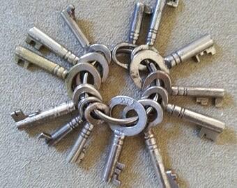13 x cabinet/skeleton keys/Vintage keys/ cabinet key / old keys /steampunk/crafter supply