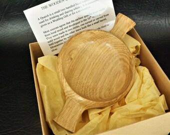 A Scottish Wooden Quaich made from Scottish Oak