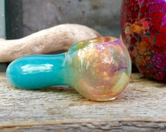 Turquoise Color Changing Glass Pipe