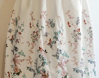 long skirt mori flowers poetry