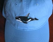 Orca Whale Embroidered on...