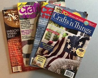 Lot of 4 Crafts Magazines, 1980-2007