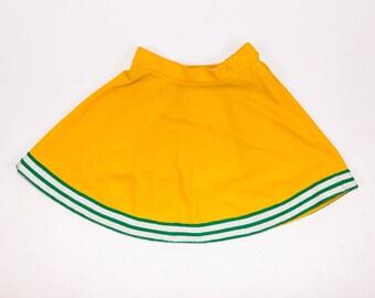 60's Cheer Uniform Yellow Circle Skirt