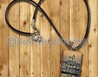Salt Water Therapy Pendant Necklace