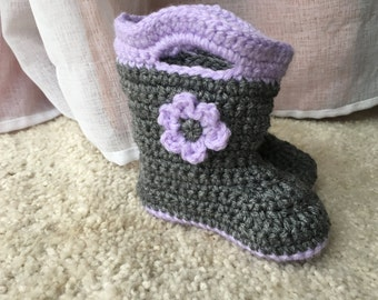 MADE TO ORDER Crochet Baby Booties Galoshes