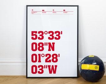 Barnsley Football Stadium Coordinates Posters