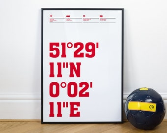 Charlton Athletic Football Stadium Coordinates Posters