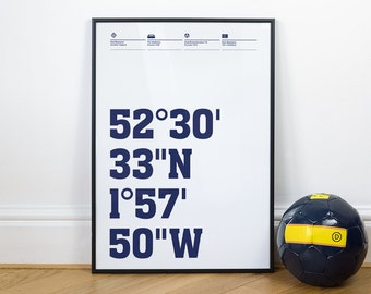West Brom Football Stadium Coordinates Posters