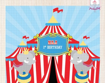 Printable Backdrop Banner (Animal Circus)