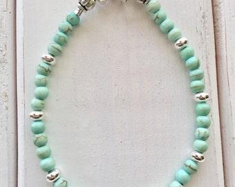Green bracelet, Mint Bracelet, Mint Bead Bracelet, Mint Green Bracelet, Light Green Bracelet, Mint Jewelry, Mint Green Jewelry, Mint Green