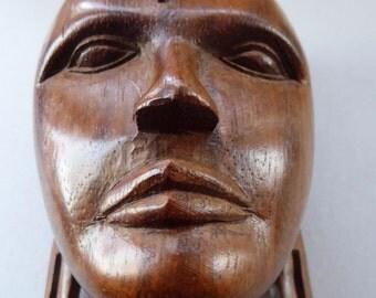 Beautifully Carved Vintage African Sculpture:  Masai Warrior, Kenya WALL HANGING