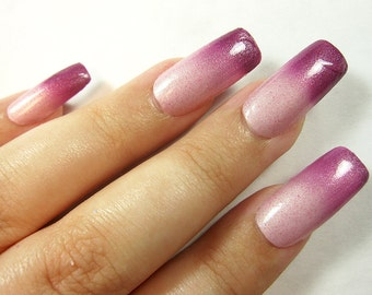 Pink Nail Polish - Color Changing Thermal Mood Polish - Take Back Your Pearls from Crystal Knockout - Reduced Chemical (15mL Full Size)
