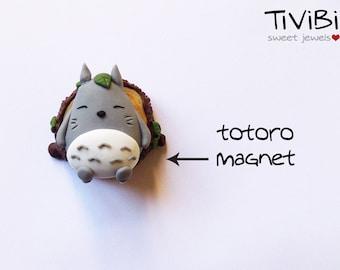 Totoro Magnet, My Neighbor Totoro, Polymer Clay, Totoro stuff, sleeping Totoro, My Neighbour Totoro, Studio Ghibli magnet, Handmade