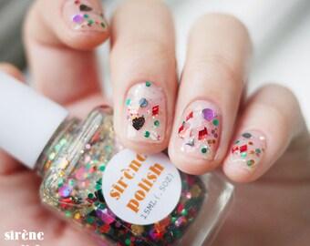 oriental dress - Glitter Polish -  Nail Lacquer