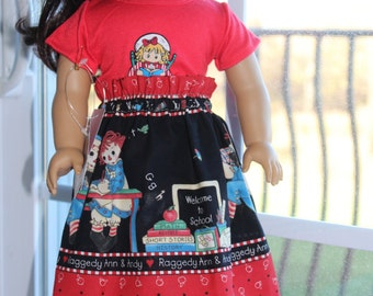 School Days for Raggedy Ann and Andy Skirtset