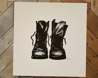 Boots Screenprint