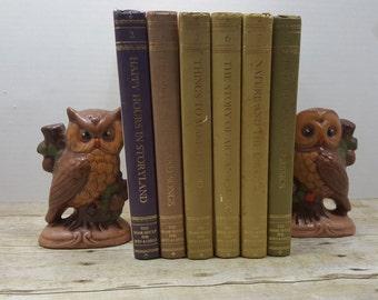 Bookshelf for Boys and Girls, set of 6, 1970 vintage kids books, book set